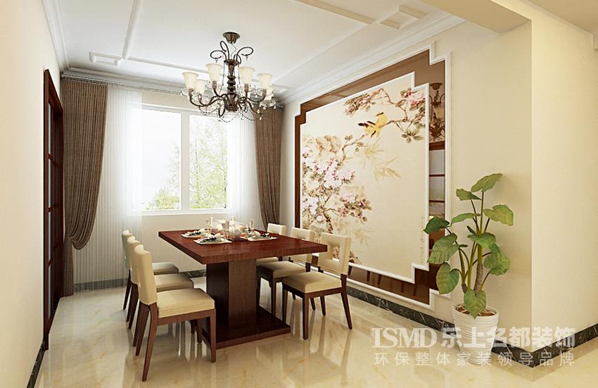 诗情画意新中式四居室效果图