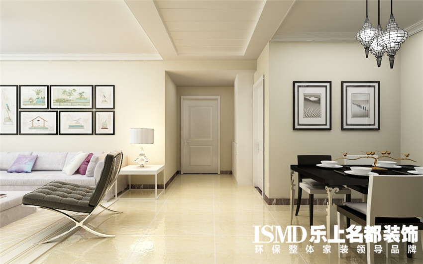 现代简约风格三室两厅装修效果图