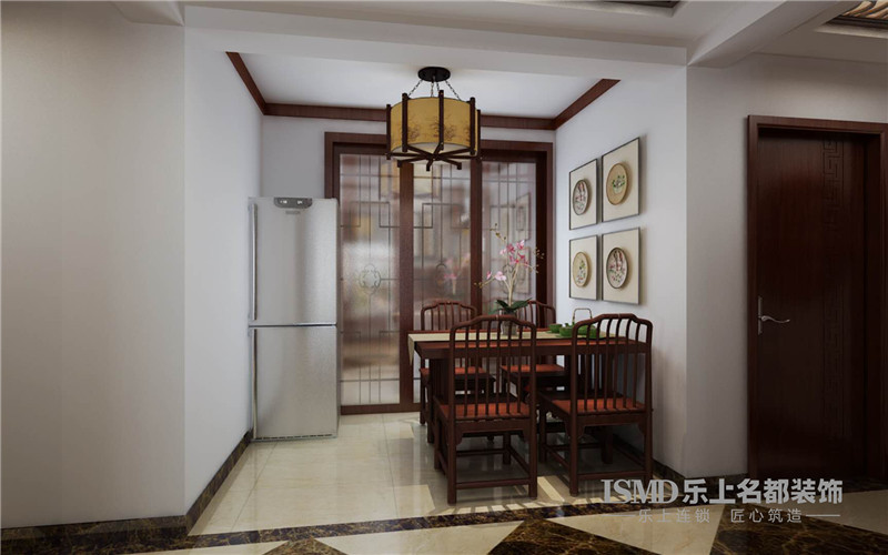 高远时光城113�O三居室中式装修家-石家庄装修公司