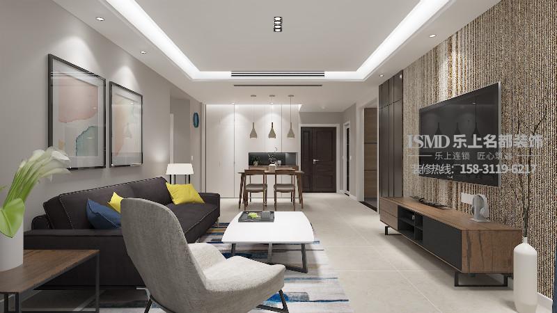 石家庄华普园两居室超有质感的现代风格家