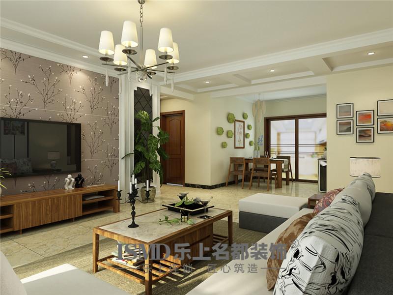 天璽名著小高層三居室現代裝修風格效果圖
